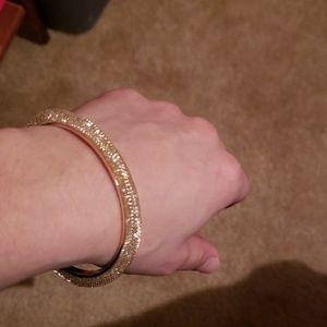 Gold tone mesh fashion bracelet